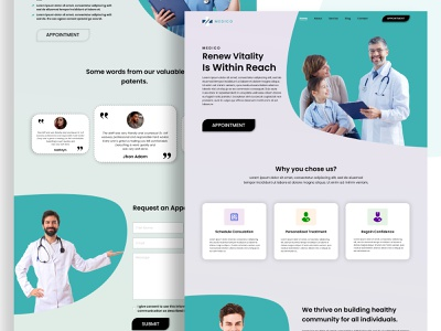 medico  medical center landing page website landing page clinic medical landing page medical clinic medical