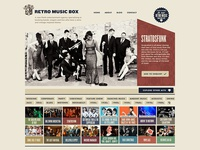 Retro Music Box website