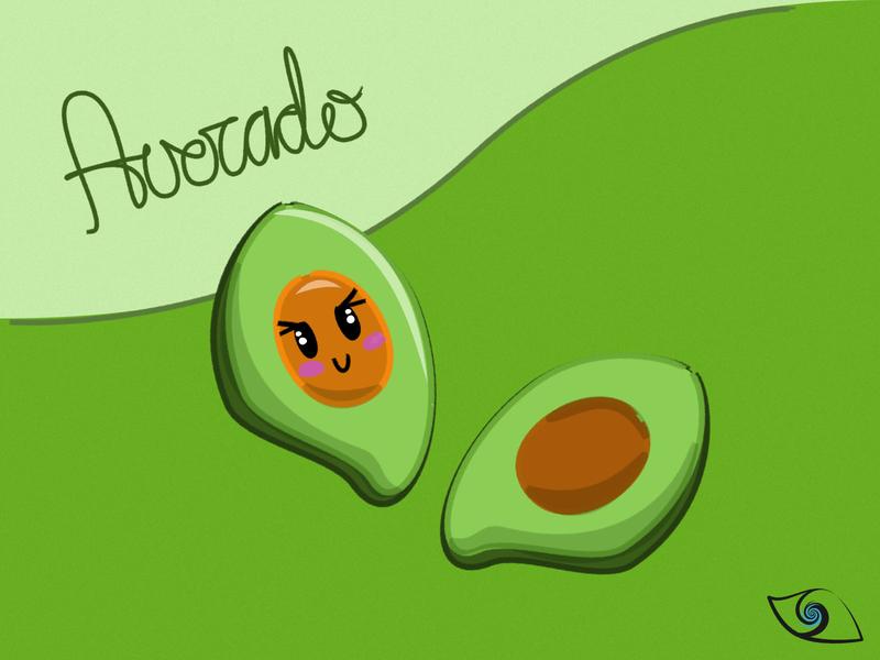 Cute Froot - Avocado (。◕‿◕。) vector illustration avocado fruit cute affinity designer illustration vector