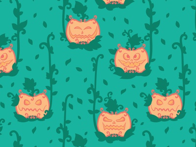 Jack o' lantern pattern ψ (`∇´) ψ jack o lantern pumpkins halloween seamless pattern flat illustration daily vector illustration affinity designer illustration vector