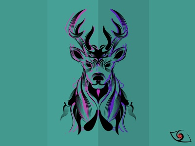 O' deer  Ꮚ ≗ ᴥ ≗ Ꮚ animal illustration deer design flat illustration daily vector illustration affinity designer illustration vector