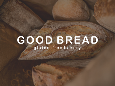 GOOD BREAD BAKERY minimal typography top guidlines modern logo graphicdesign design branding brand identity