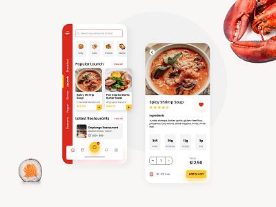 Food Delivery App Concept delivery app food app delivery food design ux ui app