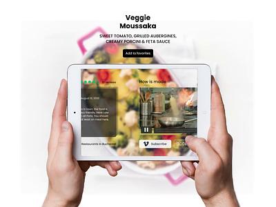 AR Food Concept recipe tablet tech immersive food app app concept food augmented reality augmentedreality