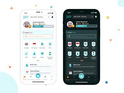 Dashboard (Home) - Education App RuangGuru ruangguru user interface ui design dashboard ui mobile user interface mobile ui
