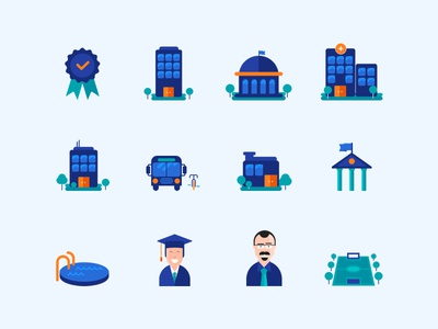 Education icons quipper campus by dei dribbble education icons quipper campus stopboris Gallery