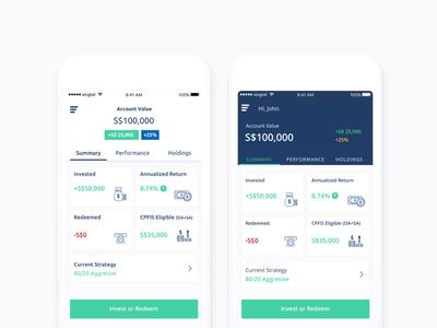 Fintech app UI