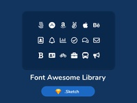 Free Font Awesome Libary Sketch