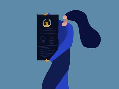 A profile illustration illustration illustrates procreate