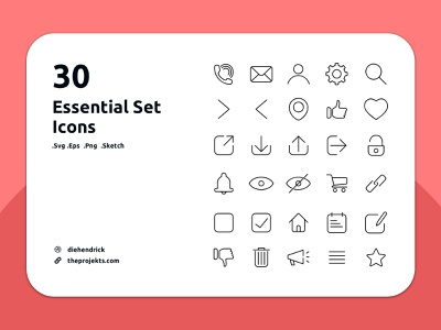 Free Essential Icons set outline icon flat icons outline icons set essential icon set outline icons free icons