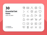 Free Essential Icons set