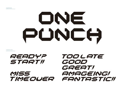 ONEPUNCH orijinal font design original android ios app game logo font design font