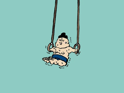 sumo wrestler 12 wrestler sumowrestler sumo man illustration gymnastics hangingwheel human