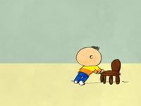 Pushing a chair