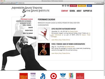 MN Dance Website redesign