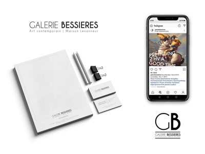 Branding 1 - Galerie Bessières brand identity logo design art direction