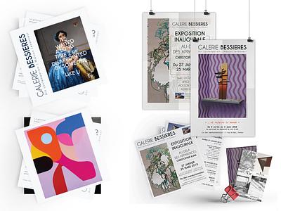 Branding 2 - Galerie Bessières brand and identity logo design art direction brand identity art gallery
