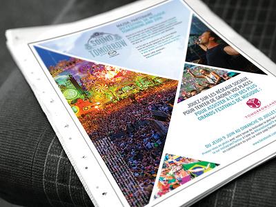 Press release - Mazda Tomorrow Land Festival layoutdesign fun art art direction press page
