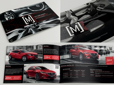 M Mazda - Dealer-store Magazine logo design art direction photography layoutdesign