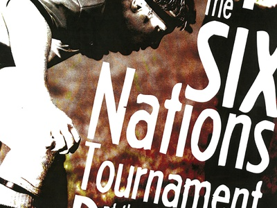 Poster - Rush bar (Paris) 6 Nations Tournament nights event poster design fun art art direction