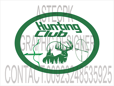 flyer for hunting typography illustration logo design branding
