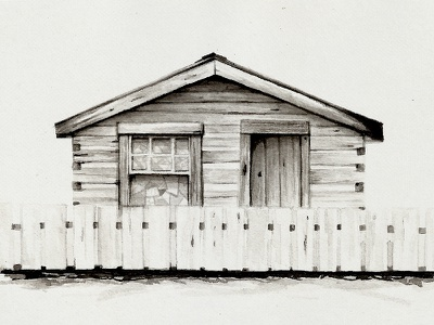 Country Hose, Montana montana house ink west illustration