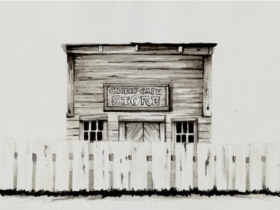 Country House, Montana montana house ink west illustration