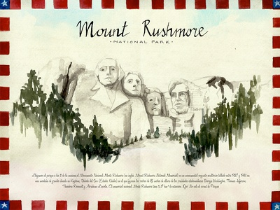 Day 4, Mount Rushmore travelbook illustration drawing travel watercolor