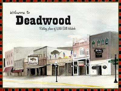 Deadwood, travel book west traveljournal travelbook illustration drawing travel watercolor