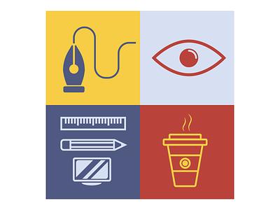 Designer's job concept. flat graphic design art illustrator minimal typography vector icon illustration design