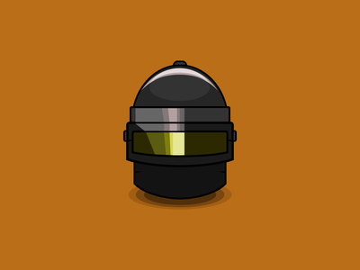 Helmet PUBG type minimal logo illustrator graphic design flat art vector illustration icon