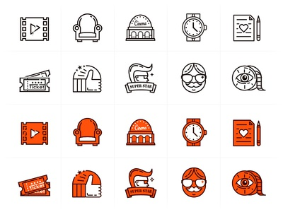 Line icons - 10 outline icons