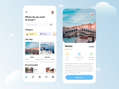 Travel Application venice beach travel app moutain beach design designtek tekono travel