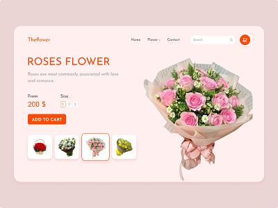 Website Flower design flowershop gift rose flower logo flower illustration flower tekono designtek