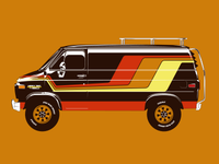 Brown 70's Van (Wizard Wagon)