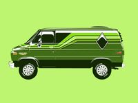 Green 70's Van (Wizard Wagon)