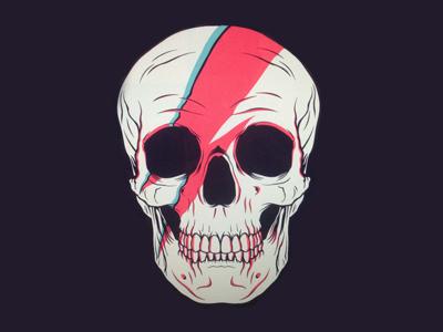 Bowie Skull ziggy stardust lightningbot lightning bolt skull davidbowie david bowie bowie