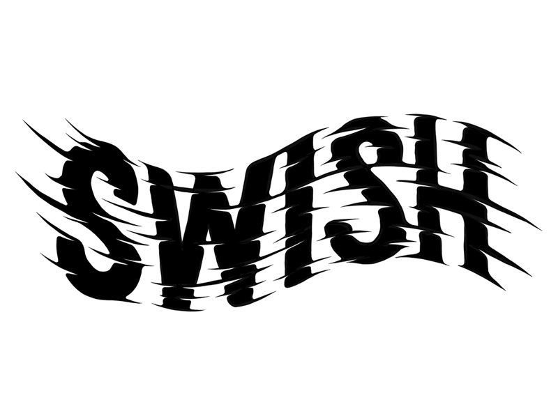 Swish wave type wave hand lettering hand made font wavy lettering font typography swish