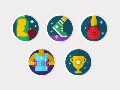 FG Badges fitness illustration badges icon