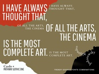 Filmmakers Quotes: Our Google Fonts combinations in Actions