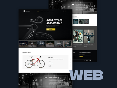 Company Website Concept - Roar Cycles freelancer freelance designer ui cycles croatia website web design ui  ux