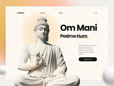 Om Mani Padme Hum UIUX Web goldenratio webdesign buddhism minimal uidesign figma uiux