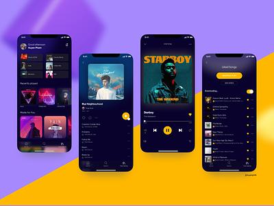 Music Player Mobile App UIUX figma uidesign mobileapp uiux musicplayer music