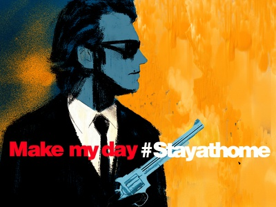 #Stayathome, make my day film poster poster advertising cover illustration