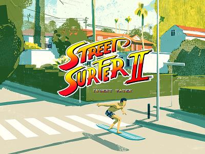 Street Surfer 2 design cover landscape illustration