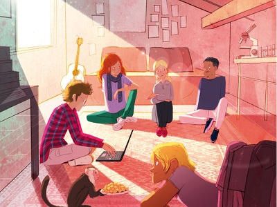 CHEFS teens girls characterdesign lights cover illustrator food childrenbook illustration