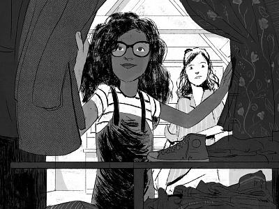 The Comet Guardians girl teens lights childrenbook characterdesign illustration