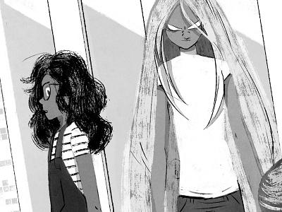 The Comet Guardians girl teens lights characterdesign childrenbook illustration