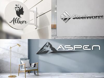 MOCKUP LOGO DESIGN mockup minimal typography vector branding logo design illustration
