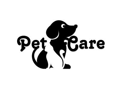 PetCare negativespace illustrator flat vector typography logo minimal illustration design branding